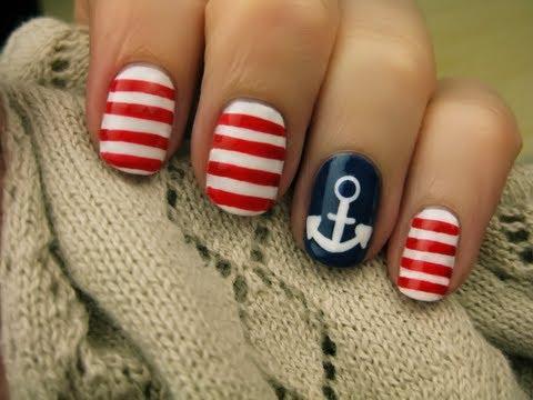 Nautical Nail Art - Hajózáshoz körmök