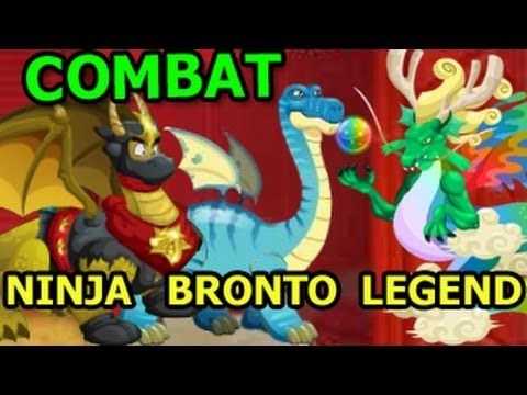 NINJA Dragon Brontosaurus Dragon and Legendary Dragon Pure COMBAT Attacks Video