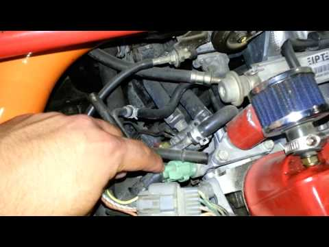 How to fix a check engine light p0455 emissions purge for Honda civic code error