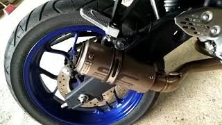 Yamaha R25 with Sc Project Uturn Full System