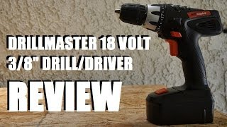 "Harbor Freight DrillMaster 3/8"" 18 Volt Drill Review"