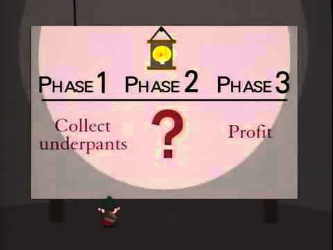 South Park Underpants Gnomes Profit Plan