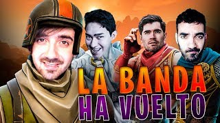 LA BANDA HA VUELTO ! PRIMERA VEZ DE FERNANFLOO , GERMAN, TOWN Y BERS EN FORTNITE ! ( BATTLE ROYALE )