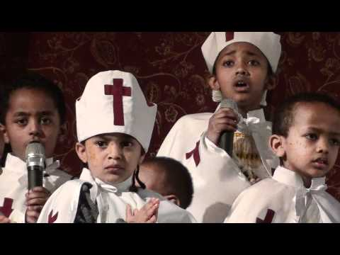 Funny Moment Of Kids Mezmur In Ethiopian Orthodox Church. video