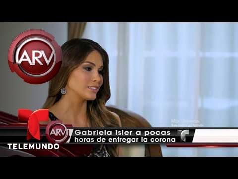 Gabriela Isler habla de cómo fue su reinado en Miss Universo | Al Rojo Vivo | Telemundo