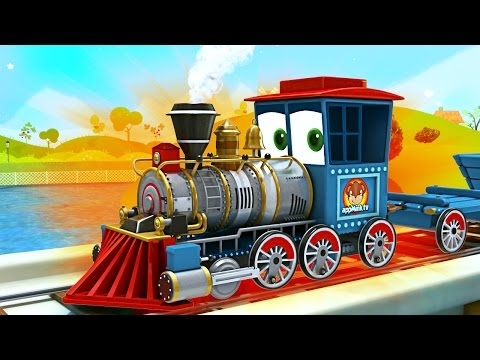 appMink build a Steam Train - steam locomotive toy movies for children