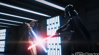 Obi-wan Vs. Vader remade fast-paced (recut with FXitinPost sc38 clip)