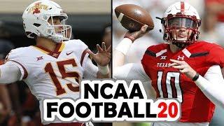 Iowa State @ Texas Tech - NCAA Football 20 Preseason Simulation (2019 Rosters for NCAA 14)