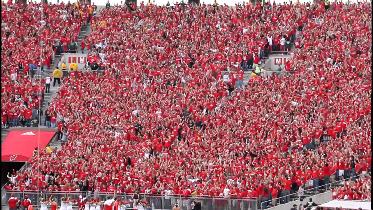 Wisconsin Jump Around In Student Section At Camp Randall