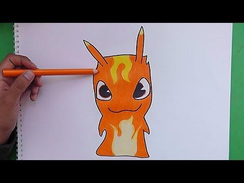 Dibujando y coloreando a Infierno Burpy (Bajoterra) - Drawing and coloring to Hell