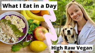 What I Eat in A Day - High Raw Vegan (Raw til 4)