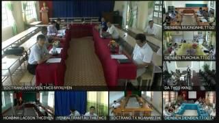 Tập huấn Hướng dẫn sử dụng thiết bị phòng học trực tuyến tại điểm cầu các tỉnh: Sơn La; Điện Biên; Yên Bái; Hòa Bình