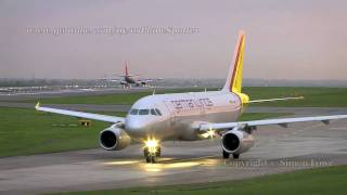 Germanwings Airbus A319-132. D-AGWD. Evening take-off.
