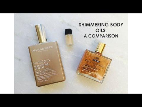 Shimmering Body Oils Comparison