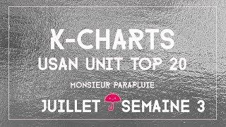 TOP 20 K-POP MUSIC CHART | USAN UNIT Juillet Semaine 3