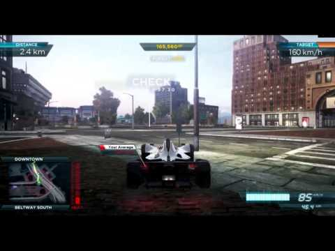 NEED FOR SPEED MOST WANTED 2012 - Speed Run With Bac Mono
