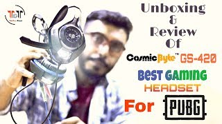 Cosmic Byte GS420!! || #PUBG GAMING HEADPHONE WITH MIC SPLIT || Unboxing & Review