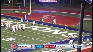 Columbia #4 Andre Brown 1 yard pass to #1 Shadell Bell for a TD