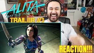 ALITA: BATTLE ANGEL | Official TRAILER #3 - REACTION!!!