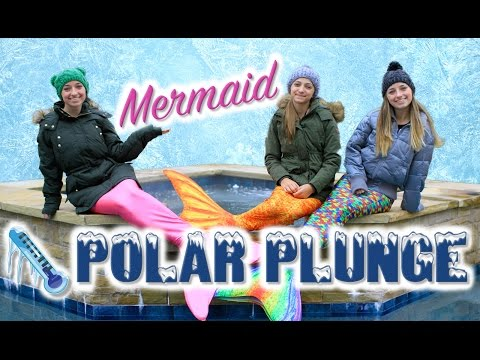 Mermaid Polar Plunge | Brooklyn and Bailey