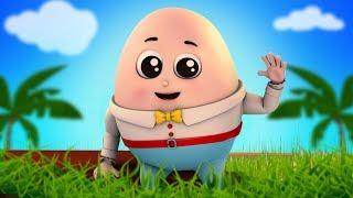 Humpty dumpty ngồi trên tường | vần cho trẻ em | bài hát trứng hài hước | Preschool Song