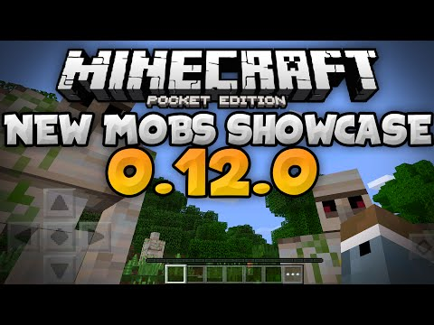 NEW MOBS in 0.12.0 - Golems. Wither Skeletons. & More - Update Review  Minecraft PE (Pocket Edition)