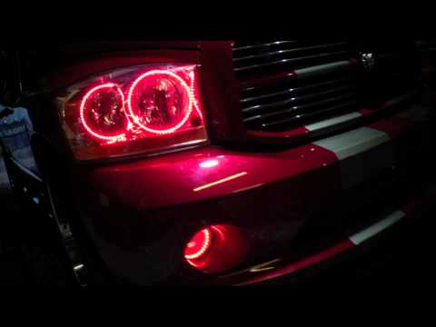 2006 Dodge Ram Dual Color Red/White LED Halo Kit installed by Advanced Automotive Concepts