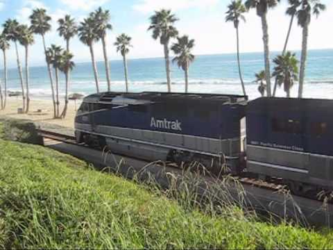 San Clemente Pier Trains - Amtrak and Metrolink