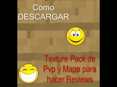 Descargar Texture Pack PvP y Mapa para hacer Reviews   Tutorial