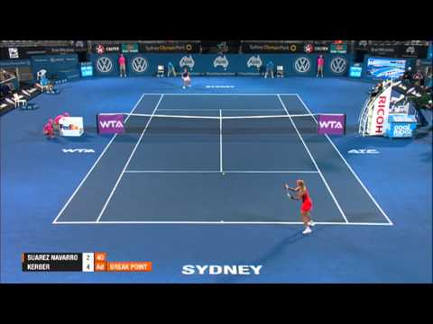 Carla SUAREZ NAVARRO (ESP) vs Angelique KERBER (GER) HIGHTLIGHTS Apia International Sydney 2014