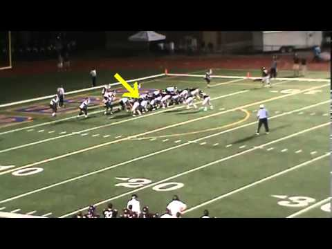 Tristan Harkleroad 2012/13 Benedictine Military School football highlights