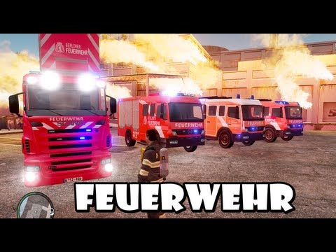 GTA IV - Feuerwehr / German Fire dept responding to a structure fire