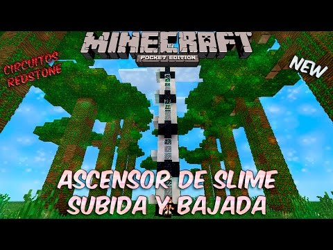 Minecraft PE: Redstone | Ascensor De Slime Subida Y Bajada (For 0.15.1_B1 )