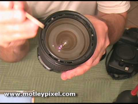 how to clean inside of my lens