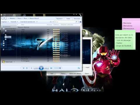 Como poner imagen de fondo a el reproductor de windows media de windows 7.wmv