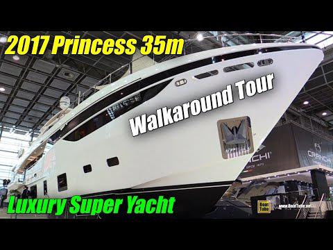 2017 Princess 35m Luxury Super Yacht - Walkaround - 2018 Boot Dusseldorf Boat Show