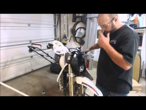 How-To  Trail Tech X2 headlight install on 2013 DRZ400SM Supermoto