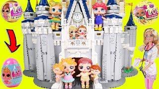 LOL Surprise! Dolls Visit Disney Lego Castle