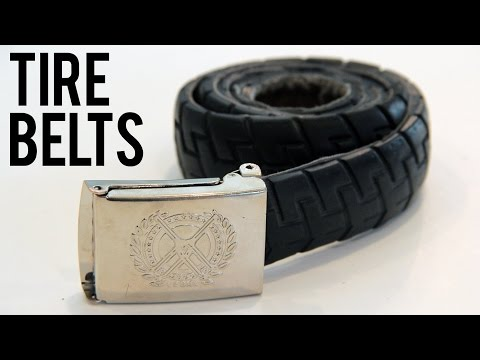 How to Make a Belt out of a BMX Tire