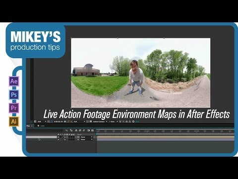 Live action footage environment maps in After Effects