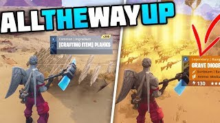 Trading From A Stack Of Planks To A 130 GRAVE DIGGER! - All The WAY UP! [1] Fortnite Save The World