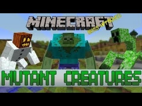 Minecraft 1.7.4 Mutant Creatures Mod ( Mod Showcase)