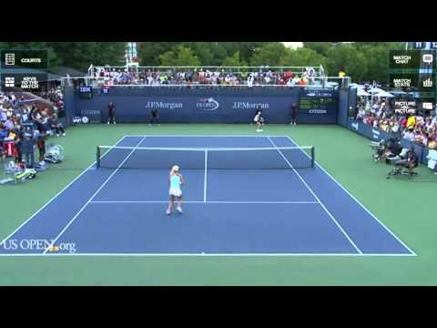 Radwanska's sisters match highlights US Open 2011