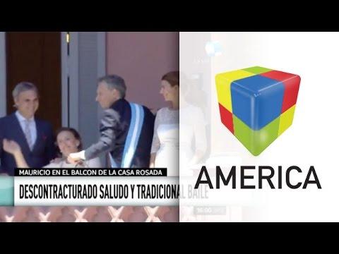 Adiós, protocolo: el baile de Macri y el canto de Michetti en el balcón de la Rosada
