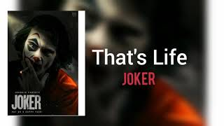 That's Life - ( Joker movie ) 2019