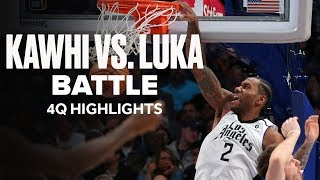 Kawhi Leonard (36 PTS) and Luka Doncic (36 PTS) Go At It | 4Q Highlights