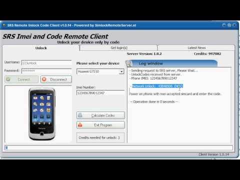 SRS: Howto Unlock Huawei G7210 Panama by imei only