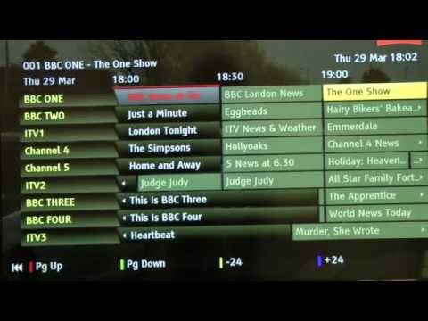 demo of TVonics DTR-HD500 talking freeview recorder part 3: programme guide, recording and playback