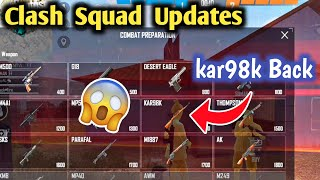 New Clash Squad Updates - Free Fire New Clash Squad Changes.