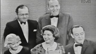 What's My Line? - The panelists' spouses; Tony Randall [panel] (Dec 25, 1960)